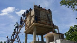 Framing the Water Tower