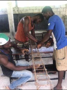 Creating rebar frames for the posts