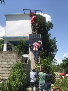 adding the solar panel