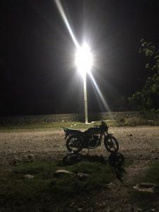 street light aglow