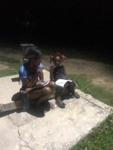 student and tutor finishing schoolwork